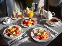 Na tuto bohatou snídani jen tak nezapomenete.