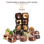 Dárkový balíček čokolád, vína, rumu a kávy + videodegustace s čokoládovovnou Janek