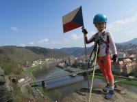 I malý horolezec dosáhne velkého úspěchu:)