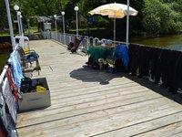 Zde se připravíte na vstup do vody:) (Vrané nad Vltavou)
