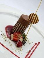 Čokoládový tymbálek s lesním ovocem