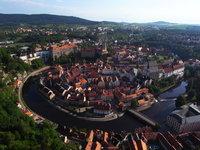 Historické centrum Českého Krumlova jako na dlani.