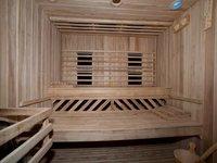 Finská sauna v privátním wellness zámku Zbiroh