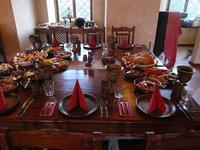 Jídlo se podává v zámecké krčmě U Rudolfovy kratochvíle