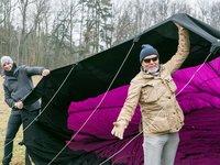 Marek Vašut se předvedl jako talentovaný pilot balónu.