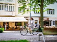 Projížďka na hotelovém retro kole po lázeňském městě Poděbrady
