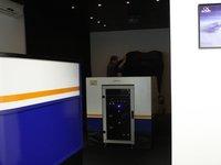 Klimatizovaná místnost simulátoru.