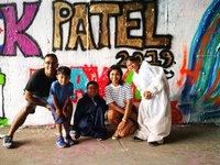 Graffiti workshop je ideální zážitek pro celou rodinu.