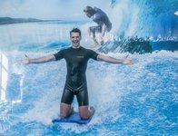 Karel byl na surfu ve svém živlu:)