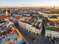 Pohled na Olomouc z výšky
