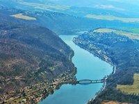 Davle nedaleko Prahy se svým železným mostem.