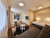 Celý hotel je zařízený v čistém elegantním stylu.