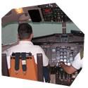 Simulátor dopravního letadla, , 3 osoby, 1 hodina
